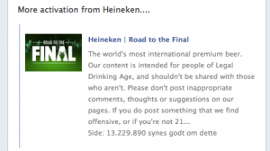 Heineken Facebook activation 15052013