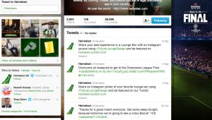 Heineken Twitter account 15052013