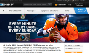 NFL DIRECTV web site
