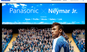 Neymar - Panasonic site